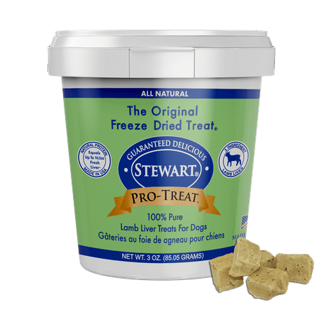 Stewart Pro-Treat Freeze Dried Lamb Liver Dog Treats, 3 oz. Tub