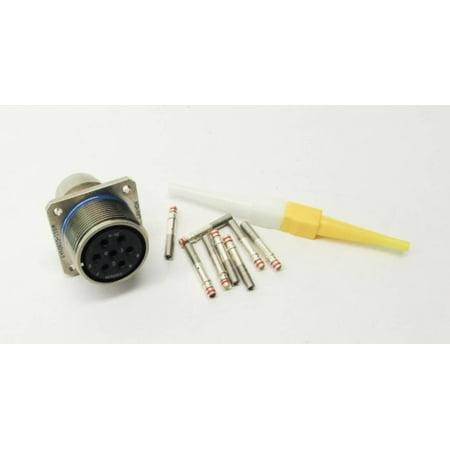 Lor of 10 New  ITT Cannon M83723-19R2015W 7-Pin Circular Connector Plug Kit (Itt Cannon Connectors)