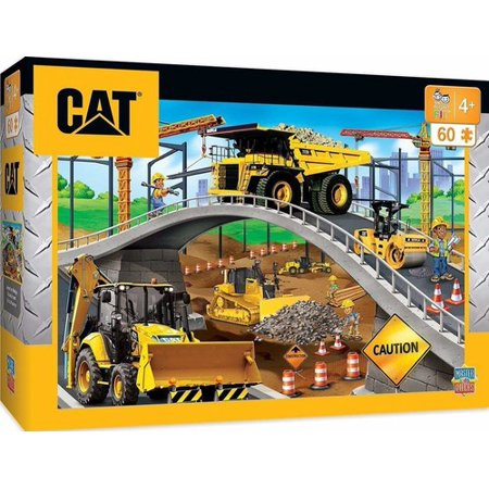 Caterpillar Puzzle (MasterPieces Caterpillar Under the Bridge - Construction Trucks 60 Piece Kids Puzzle)
