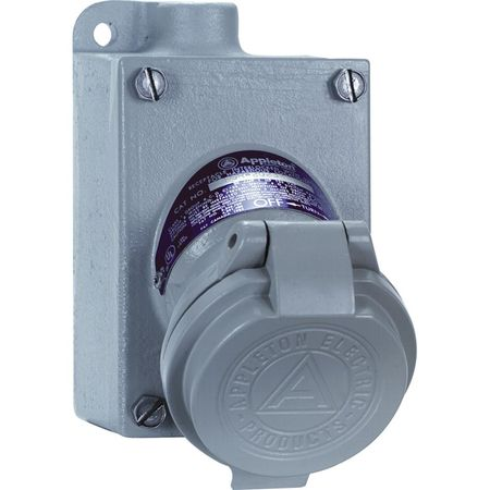 Appleton CPS152-101 Receptacle, 125-250V, 20A, 2W, 3P, 1/...