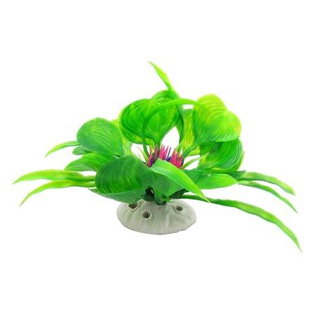 Unique Bargains Green Leaves Fuchsia Floral Aquarium Artificial Plant - image 3 of 3
