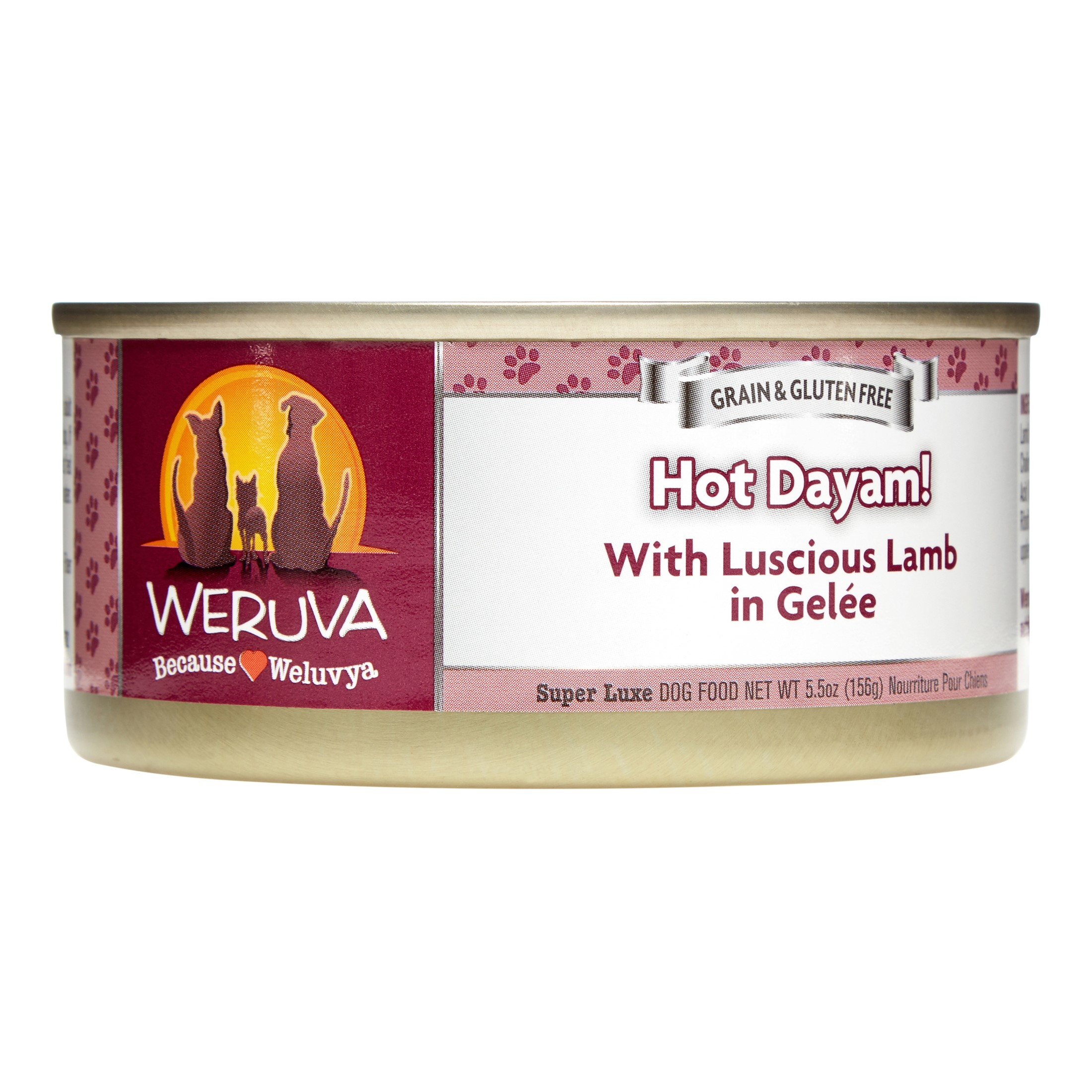Weruva Hot Dayum! Grain-Free Chicken & Lamb in Gelee Wet Dog Food, 5.5 Oz