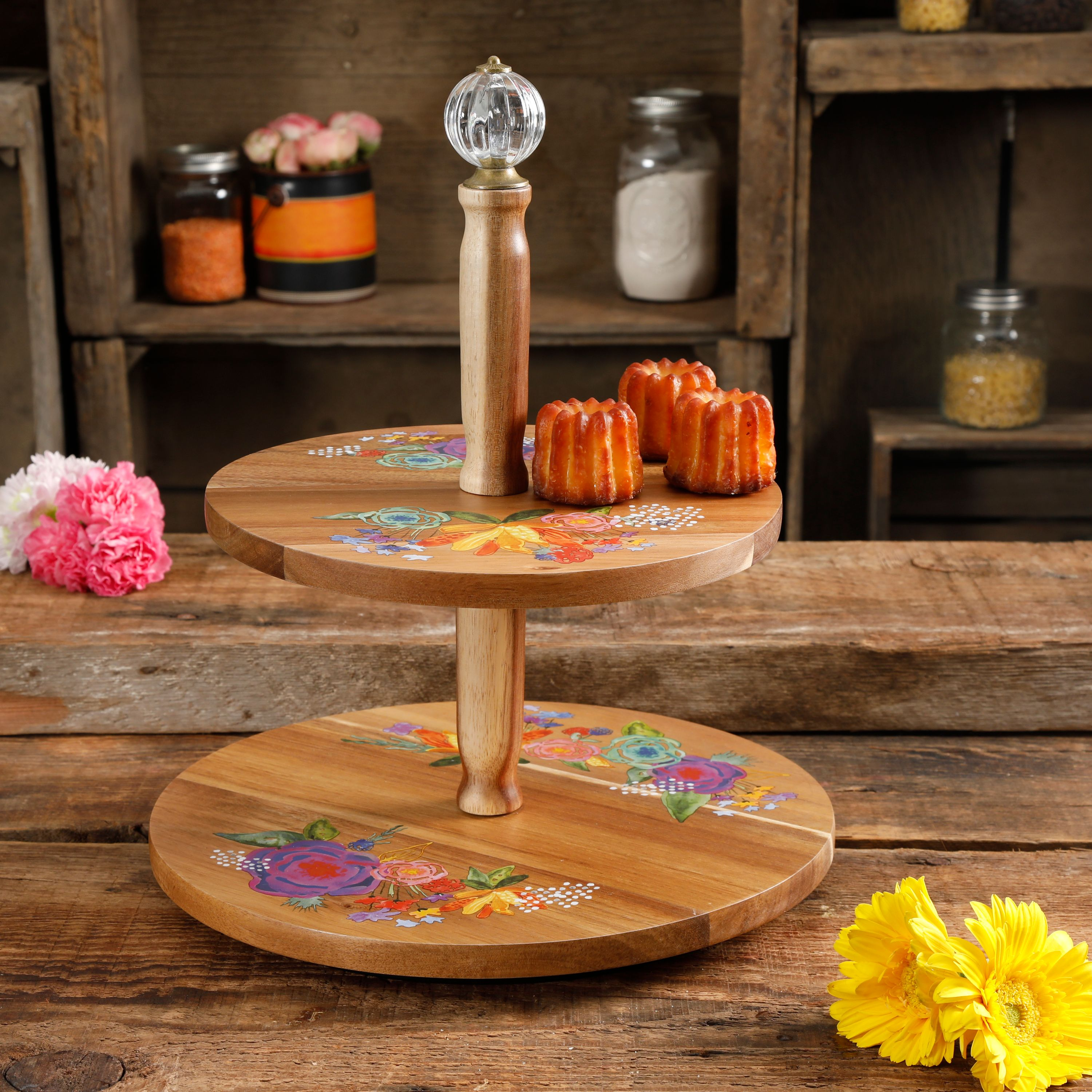 The Pioneer Woman Celia 2-Tier Lazy Susan