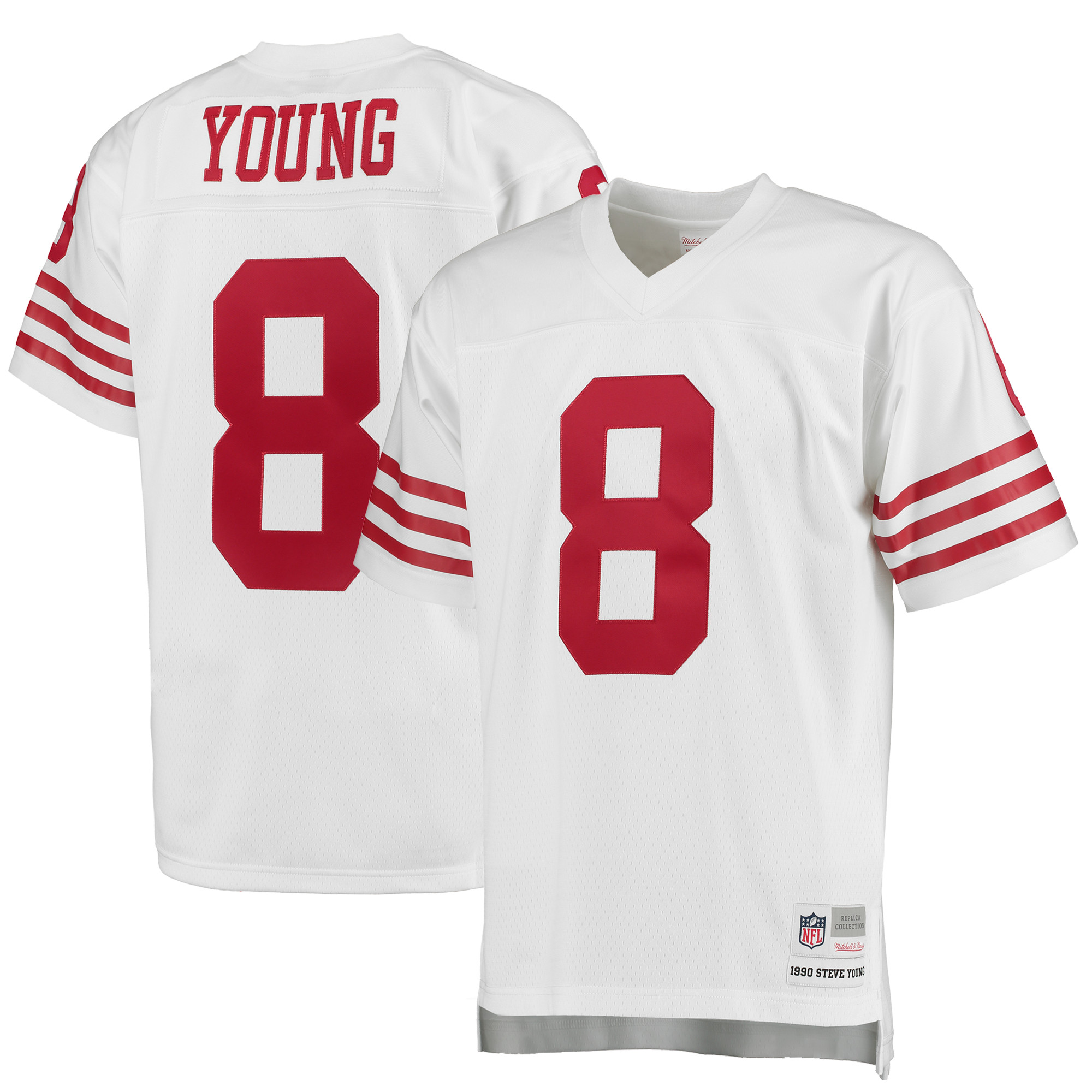Steve Young San Francisco 49ers Mitchell & Ness 1990 Replica Retired Player Jersey - White