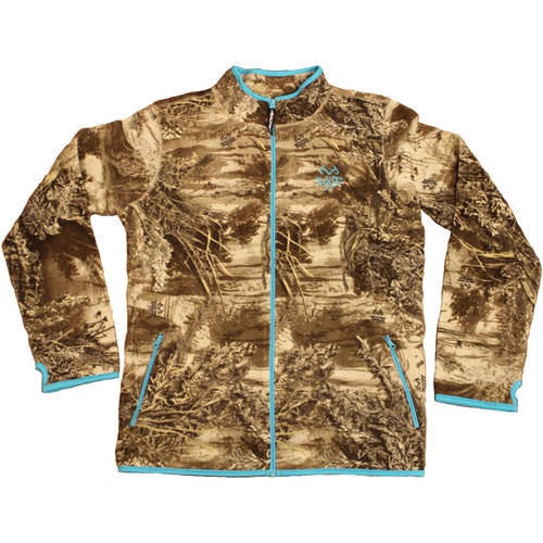 Women's Fleece Camo Full Zip Jacket by