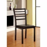 Transitional Side Chair, Knockdown, Black, Set Of 4