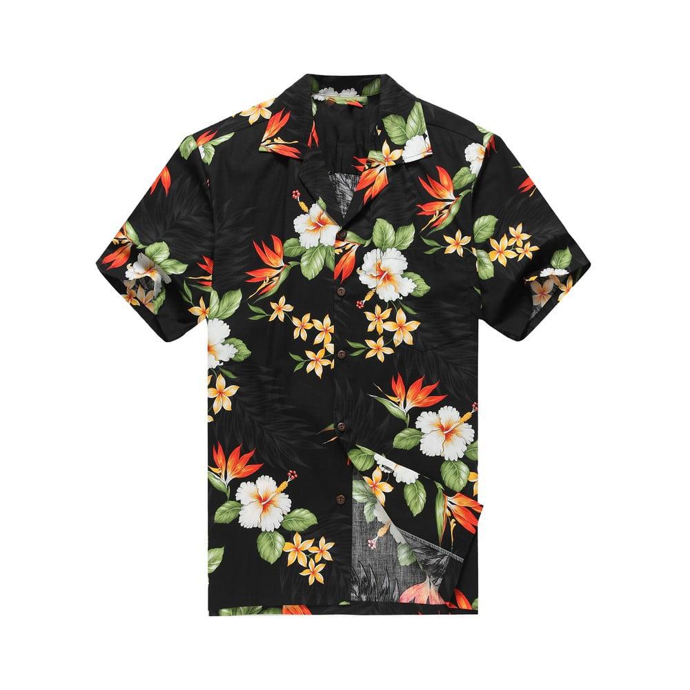Hawaiian Aloha Shirt Parrot of Paradise Black Made in Hawaii