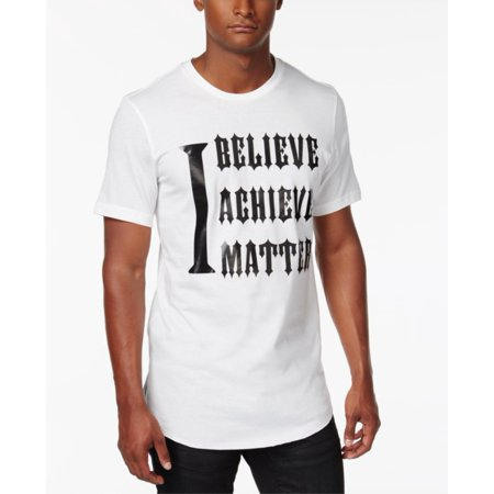 INC International Concepts Men's Graphic Print Cotton T-Shirt White Pure 2-Extra (International White Male Day)