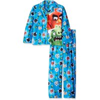 Boys' 2 Piece Poly Button Front Pajama Sleepwear Set, Available in 24 Characters