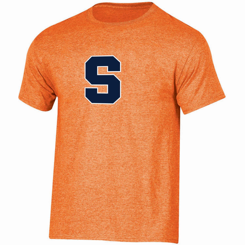 Youth Russell Orange Syracuse Orange Oversized Graphic Crew Neck T-Shirt