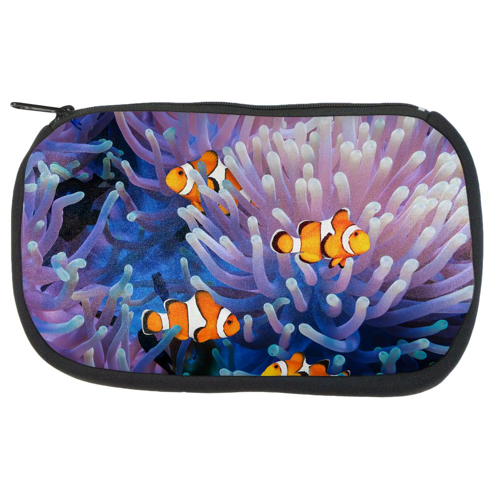 Clownfish Sea Anemone Makeup Bag