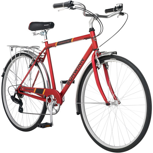 700c Schwinn Admiral Hybrid Men's Leisure Bike, Matte Red