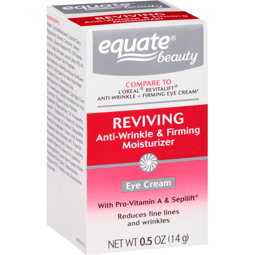 Equate Beauty Reviving Anti-Wrinkle & Firming Moisturizer Eye Cream, 0.5 oz