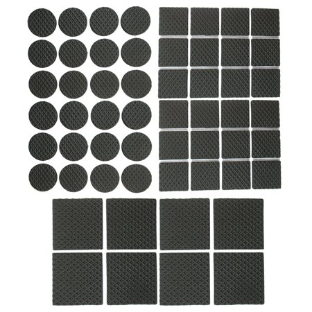 56X Heavy Duty Self Adhesive Pads Furniture Chair Floor Scratch Protectors Black ()