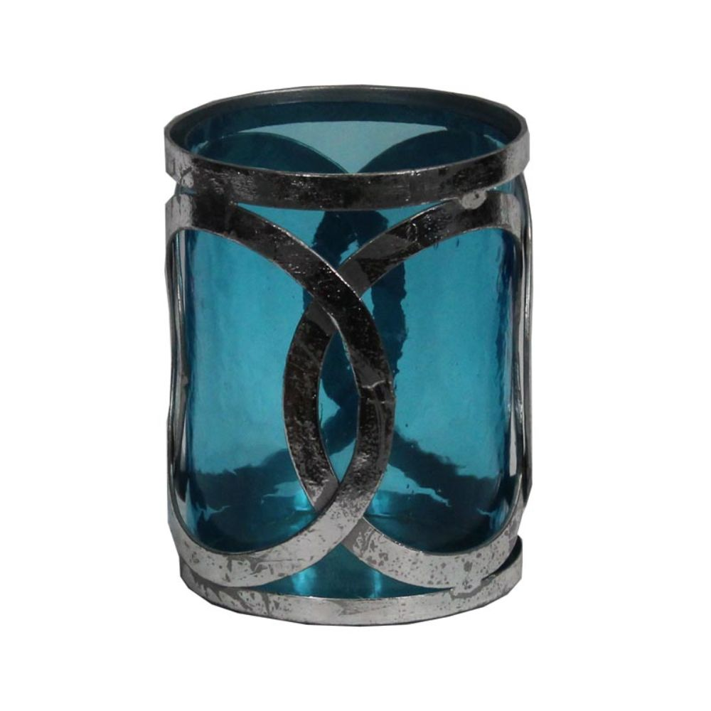 Attractive Glass Pillar Candle Holder- Benzara by Benzara