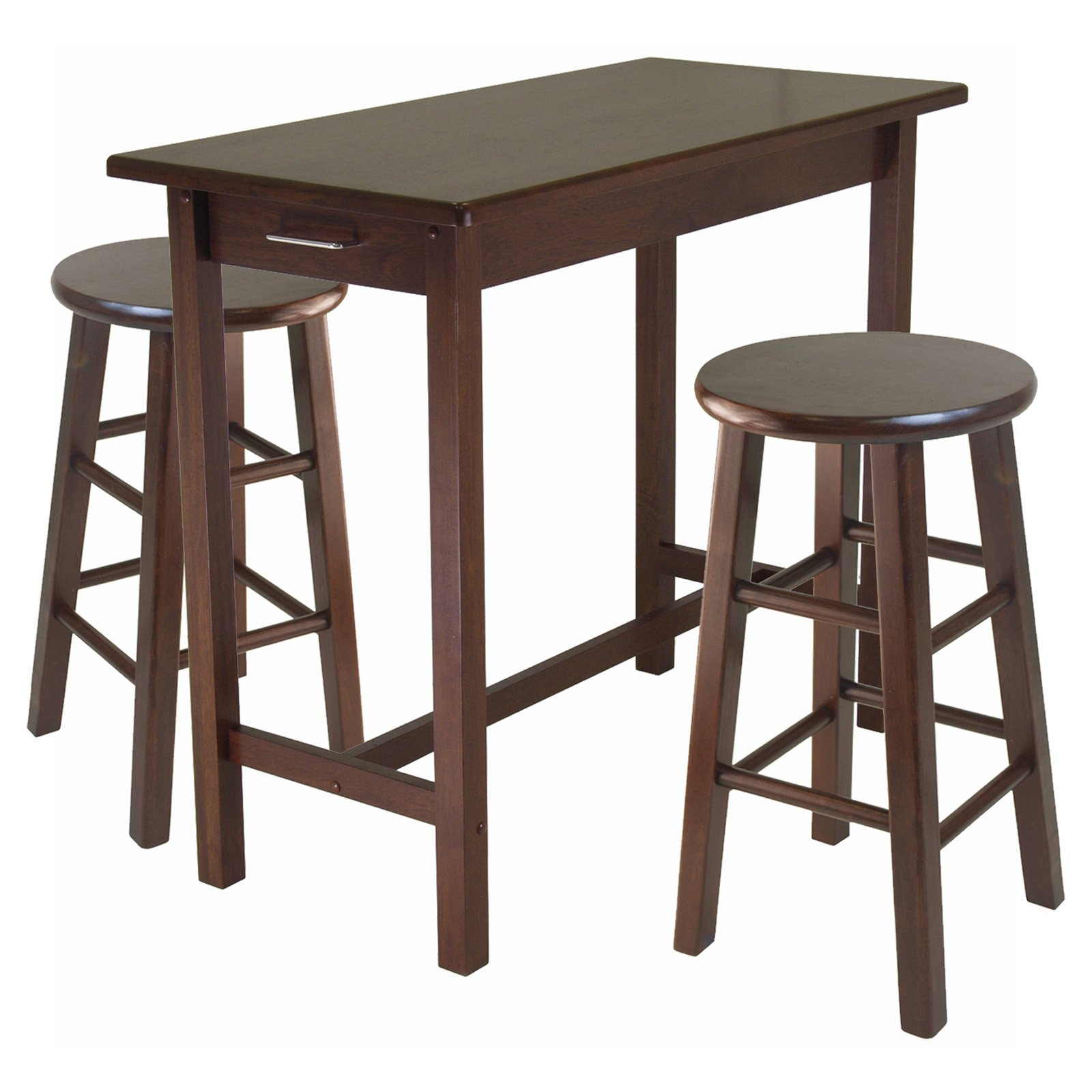 Excellent Sally 3 Pc Breakfast Table Set With 2 Square Leg Stools Machost Co Dining Chair Design Ideas Machostcouk