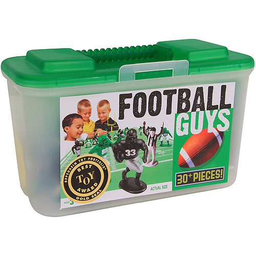Kaskey Kids Football Guys Action Figure Set, Black and Green