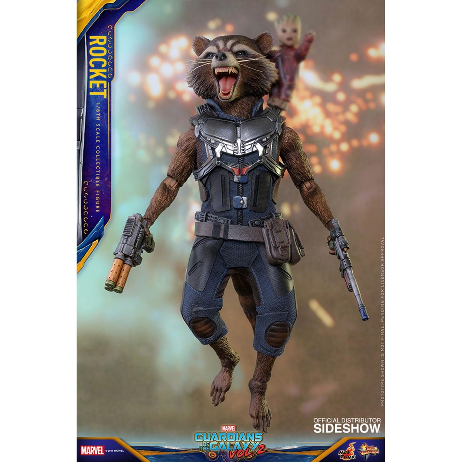 Guardians Of The Galaxy Vol 2 6 Inch Action Figure Movie Masterpiece 1/6 Scale Series - Rocket Raccoon Hot Toys 902964