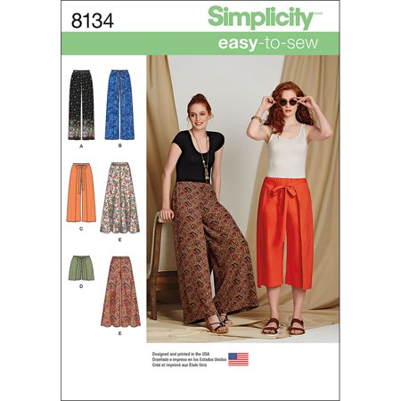 Pants Easy Pattern - Simplicity Misses' Size 6-14 Easy-To-Sew Pants & Shorts Pattern, 1 Each