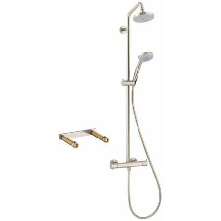 Hansgrohe KS27169-16181CR Croma Green Showerpipe, Thermostatic Basic Set Included, Various Colors
