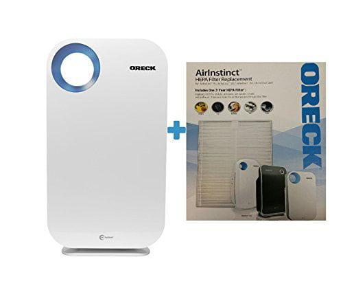 Oreck AirInstinct HEPA Large Room Air Purifier w/Bonus He...