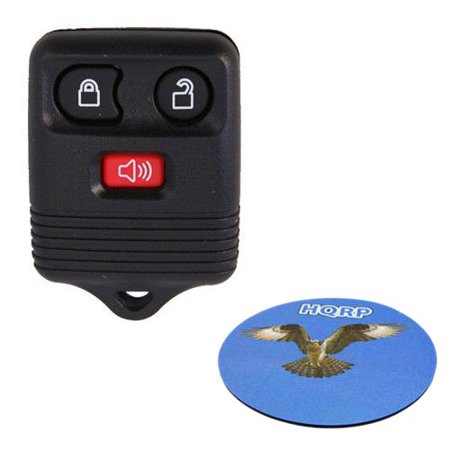 HQRP 3 Buttons Key Fob for Lincoln Navigator 1998 1999 2000 2001 2002 98 99 00 01 02 Remote Case Shell+ HQRP Coaster