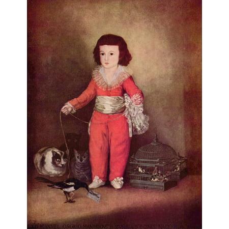 Framed Art for Your Wall Goya y Lucientes, Francisco de - Portrait of Don Manuel 10 x 13
