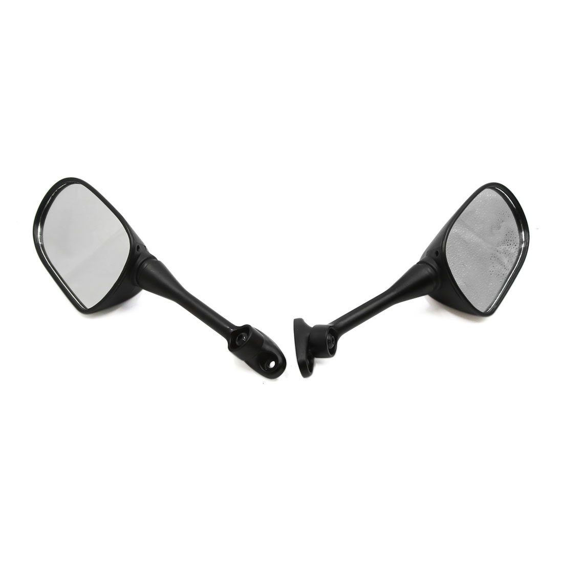 2pcs Black Motorcycle Motorbike Modified Rearview Reversing Reflective Mirrors - image 1 of 4