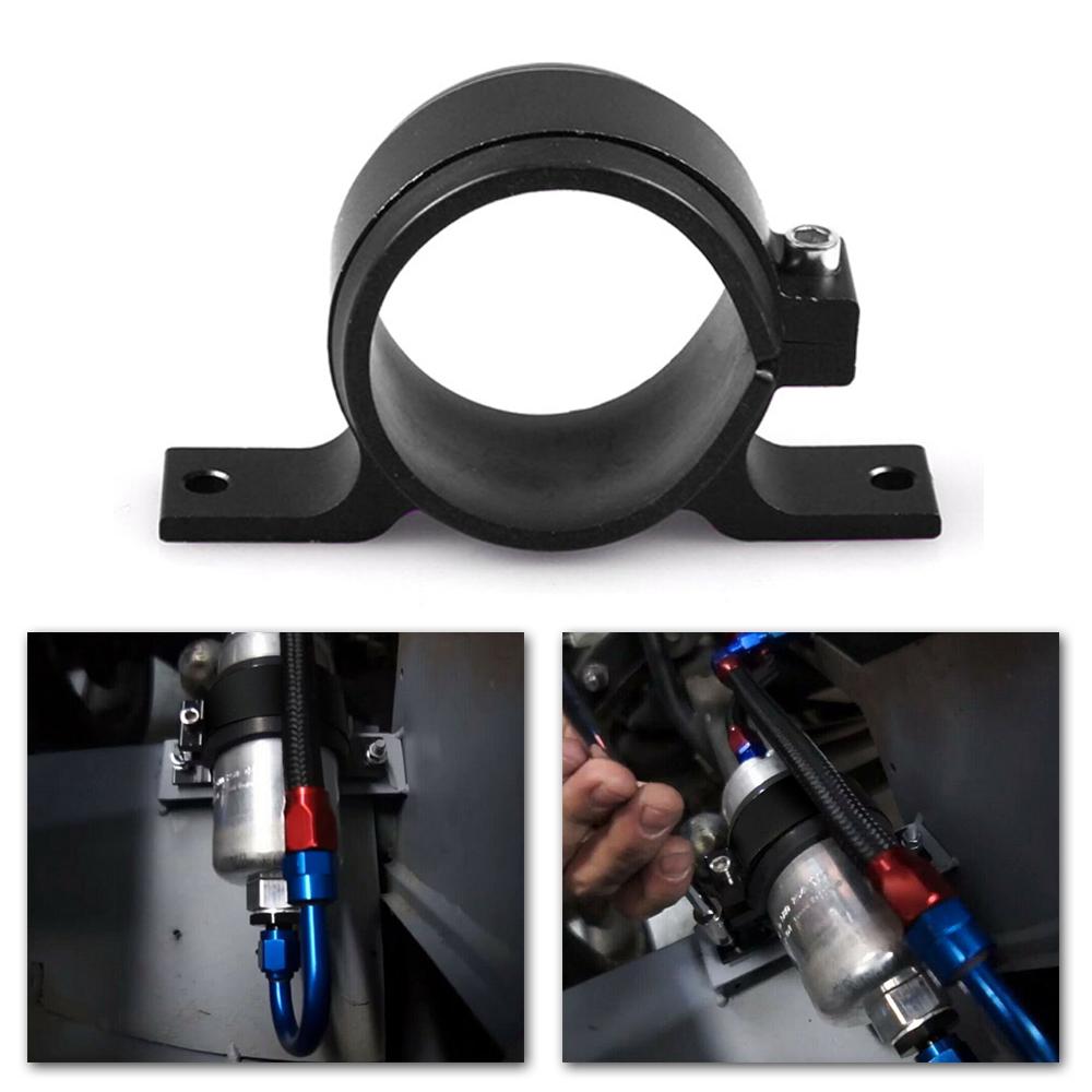 lanyard Black External fuel pump clamp mounting bracket for Walbro,Sytec,Bosch