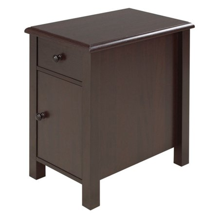 Brassex Inc. Telephone Stand with Drawer and Cabinet 2 Drawer Phone Stand