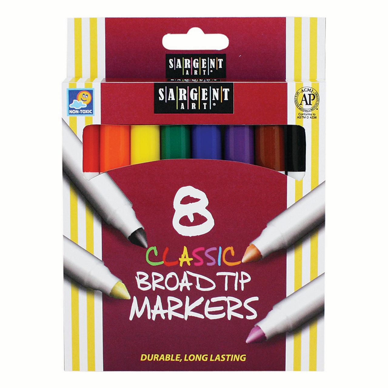 SARGENT ART CLASSIC MARKERS BROAD TIP 8 COLORS