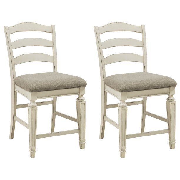 Signature Design By Ashley Realyn Dining Side Chair Set Of 2 Chipped White Walmart Com Walmart Com