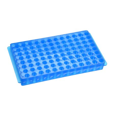 2 Kind of Tube Rack Polypropylene 96-Well Blue for 0.2ml, 0.5ml, 1.5ml, 2ml - image 3 de 3