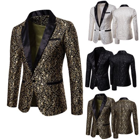 6fbbfa49d4e Urkutoba - Stylish Men s Casual Slim Fit Formal One Button Suit Blazer Coat  Jacket Tops - Walmart.com