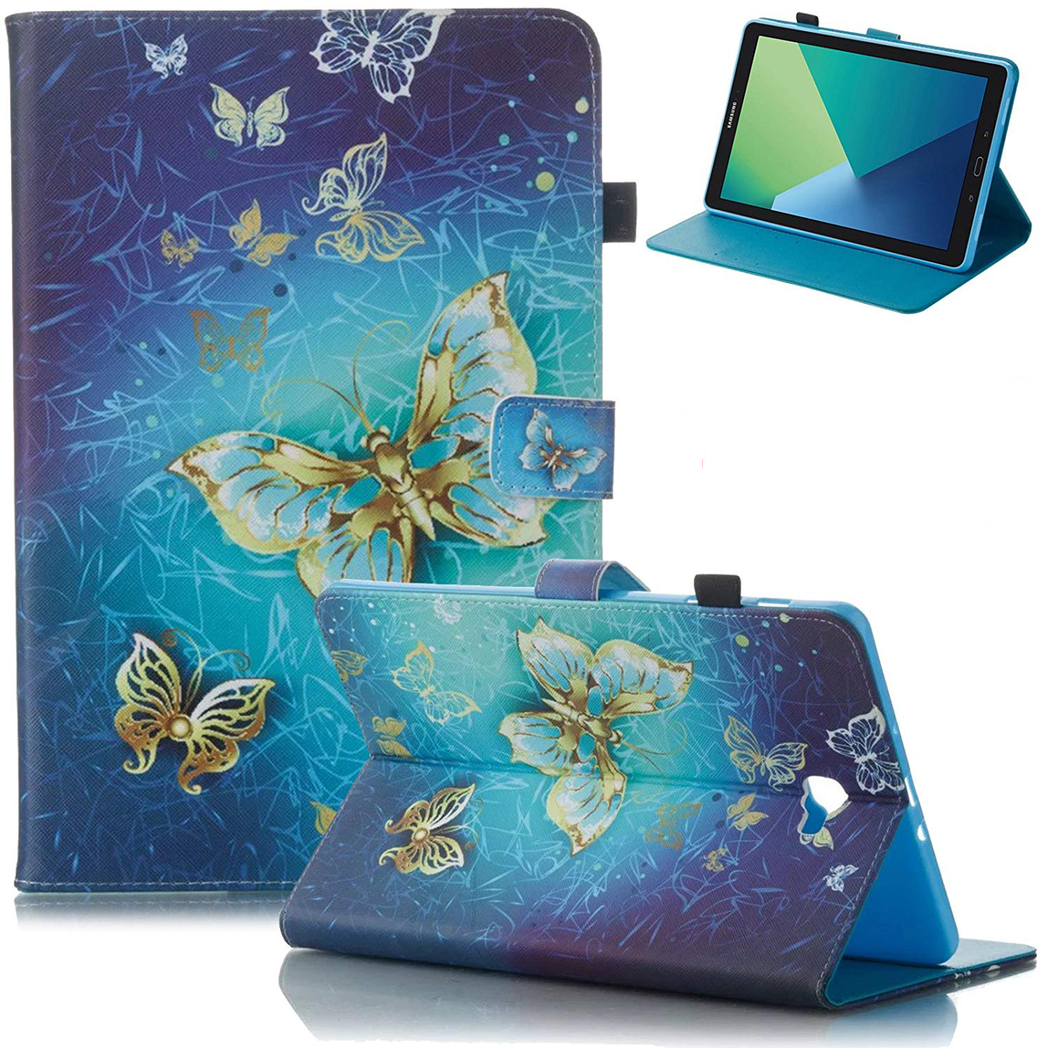 All-New Fire HD 8-inch 2017 2016 2015 Case, Goodest Ultra Slim PU Leather Folio Folding Stand Cover with Auto Wake Sleep for Amazon Kindle Fire HD 8 Tablet (7th/6th/5th Generation), Butterfly
