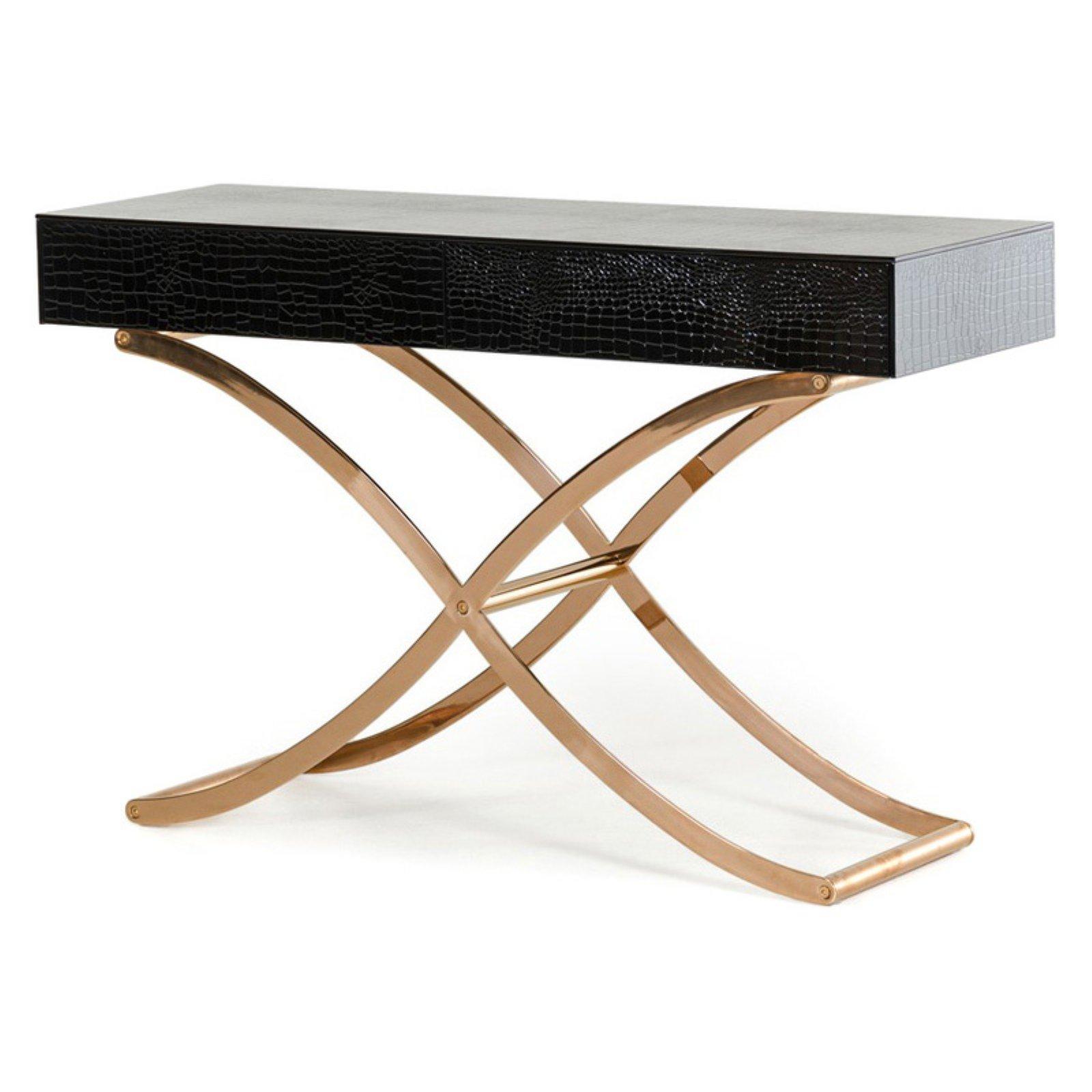 A&X Aversa Rectangle Console Table