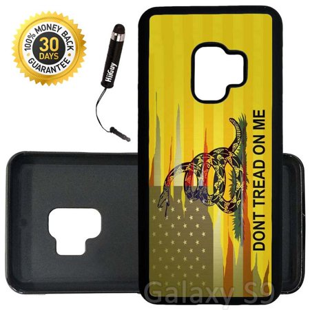 Custom Galaxy S9 Case (Dont Tread On Me Best Flag) Edge-to-Edge Rubber Black Cover Ultra Slim | Lightweight | Includes Stylus Pen by
