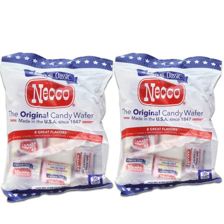 Necco The Original Candy Wafer, Fat Free & Gluten Free, 4 oz (Pack of 2) Original Version ()