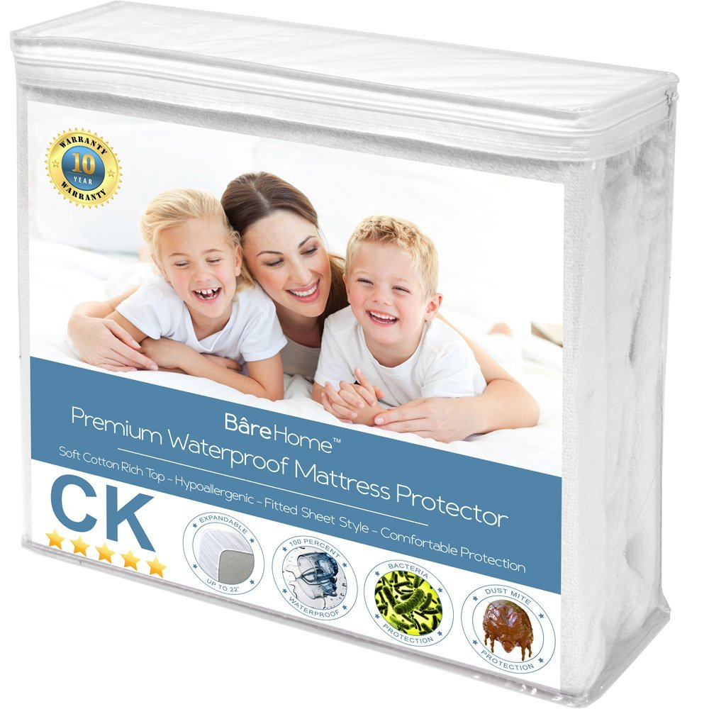 Twin XL Size Premium Mattress Protector 100% Waterproof Vinyl Free Hypoallergenic 10 Year... by Bare Home