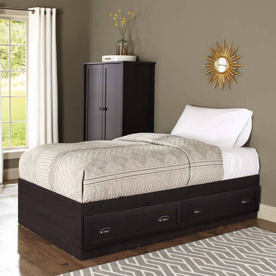 Better Homes And Gardens Lafayette Twin Mates Bed, Espresso   Walmart.com