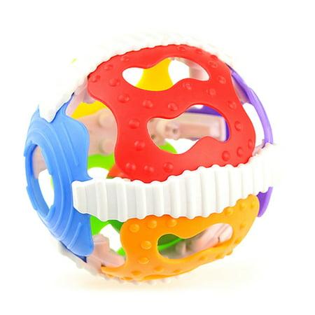 SHOPFIVE Baby Rattle Toys Cute Fun Loud Gym Jingle Ball Hand Bell Crawling Balls Intelligence Grasping Kids Develop Toy 0-12 Months (Fashion Vall)