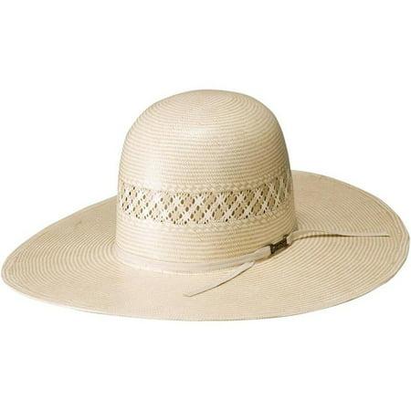 american hat company mens 15 star tan 4 1/2 brim straw cowboy hat