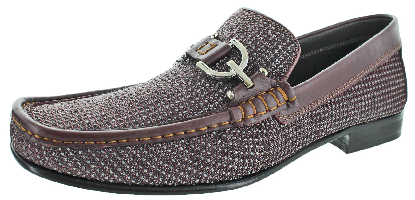 Donald J Pliner Dacio Men's Metal Bit Slip On Loafer Dress Shoes by