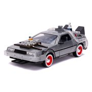 Back To The Future Part III 1:24 Time Machine Die-cast Car Light Up Feature Play Vehicles