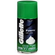 Gillette Foamy Shaving Cream Menthol 11 oz (Pack of 6)