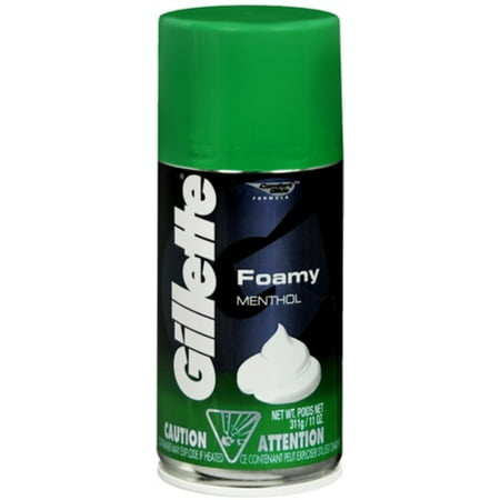 Gillette Foamy Shaving Cream Menthol 11 Oz Pack Of 6
