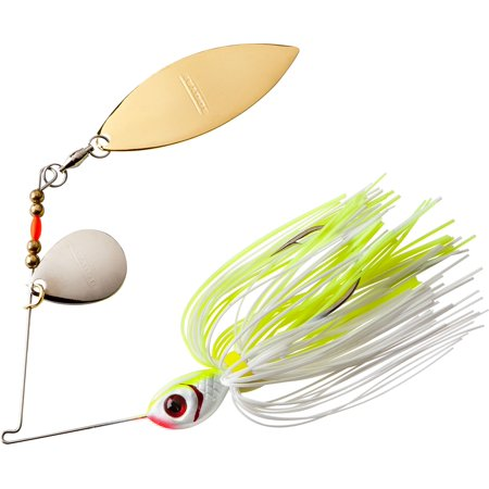BOOYAH Tandem Blade Spinnerbait White/Chartreuse