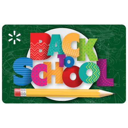 Back to School Supplies Walmart eGift Card
