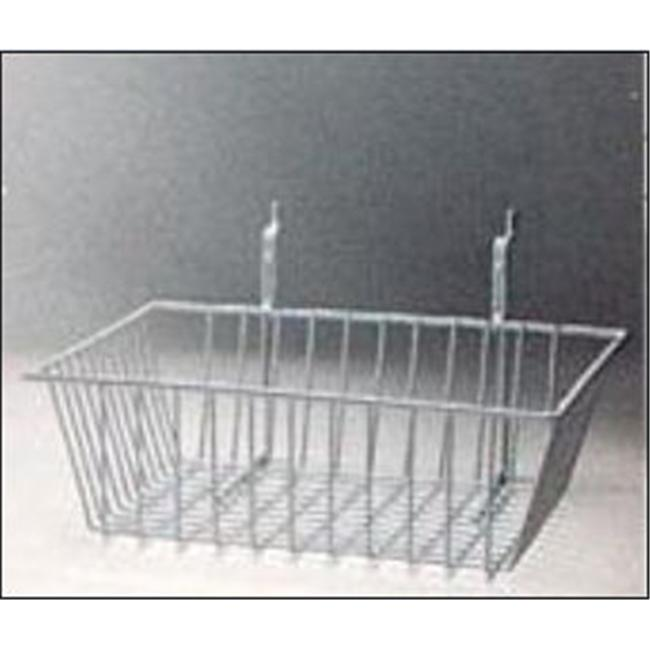 RackEm Racks 5082-W 12 in. H x 12 in. W x 4 in. D Wire Basket - White
