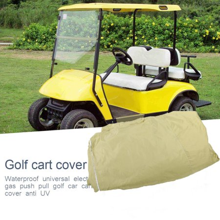 WALFRONT Durable Waterproof 4 Passenger Golf Cart Storage Cover Car Protector for EZ GO Club Car YAMAHA , Golf Cart Protector, Waterproof Golf Cart Cover